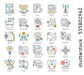 flat color line icons 3