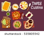 mediterranean and chinese...   Shutterstock .eps vector #535805542