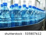 closeup on mineral water... | Shutterstock . vector #535807612