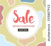 stylish social media sale... | Shutterstock .eps vector #535807915