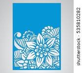 die cut card. laser cut vector... | Shutterstock .eps vector #535810282