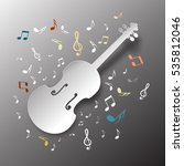 music background. paper cut... | Shutterstock .eps vector #535812046