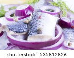 herrings for christmas on a... | Shutterstock . vector #535812826