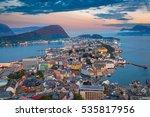 alesund  norway. cityscape... | Shutterstock . vector #535817956