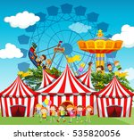 circus scene with children and... | Shutterstock .eps vector #535820056