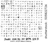 mega set of doodles. super... | Shutterstock .eps vector #535822726