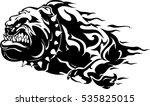 bull dog flame tattoo in beast... | Shutterstock .eps vector #535825015