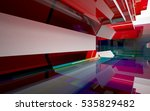 abstract architectural interior ... | Shutterstock . vector #535829482