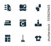 set of 9 editable hygiene icons....