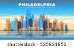 philadelphia   pennsylvania usa ... | Shutterstock .eps vector #535831852