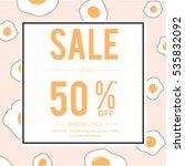 social media sale templates  ... | Shutterstock .eps vector #535832092