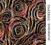 roses seamless pattern.... | Shutterstock . vector #535833952