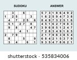 vector sudoku with answer.... | Shutterstock .eps vector #535834006