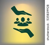 group of people and hands icon | Shutterstock .eps vector #535839928