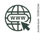 website icon vector flat design ... | Shutterstock .eps vector #535841266