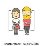 cute cartoon illustration of... | Shutterstock .eps vector #535842388