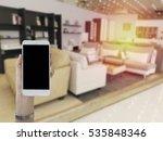 hand of women holding phone in... | Shutterstock . vector #535848346