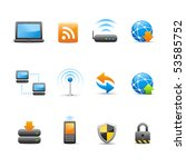 web   internet icons   ... | Shutterstock .eps vector #53585752