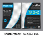 design flyers black with blue... | Shutterstock .eps vector #535861156