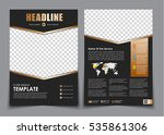 template flyer black with... | Shutterstock .eps vector #535861306