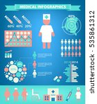 vector set of medical... | Shutterstock .eps vector #535861312