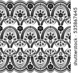 seamless lace pattern  flower... | Shutterstock .eps vector #535867645