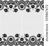 seamless lace pattern  flower...   Shutterstock .eps vector #535867672