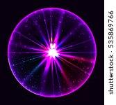 abstract plasma sphere. vector... | Shutterstock .eps vector #535869766