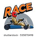 go kart racer   Shutterstock .eps vector #535870498