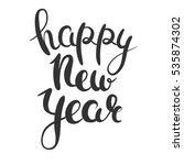 happy new year lettering.... | Shutterstock .eps vector #535874302