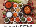 kimchi that a korean pickle is... | Shutterstock . vector #535874692