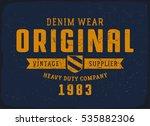 original denim print for t... | Shutterstock .eps vector #535882306