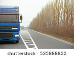 truck on road. delivery and