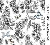 seamless tropical flowers...   Shutterstock . vector #535891768