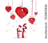 valentine day hand drawn...   Shutterstock . vector #535892836