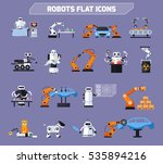 robots icons set with... | Shutterstock .eps vector #535894216