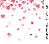 watercolor artistic heart...   Shutterstock . vector #535902436