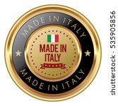made in italy badge | Shutterstock .eps vector #535905856
