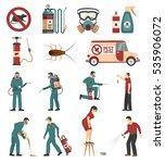pest control service equipment... | Shutterstock .eps vector #535906072