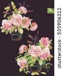 elegant beautiful bouquet of...   Shutterstock .eps vector #535906312