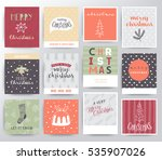 christmas illustration set | Shutterstock .eps vector #535907026