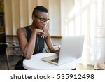 young fashionable african... | Shutterstock . vector #535912498