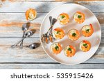 Shot Glass Shrimp With Tartar...