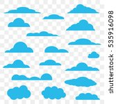 clouds set in chess background | Shutterstock .eps vector #535916098