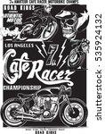 vintage motorcycle skull rider... | Shutterstock .eps vector #535924132