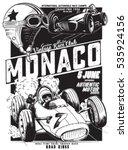 Vintage Vector Monaco Race...