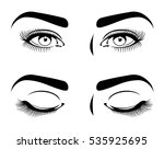 close and open eyes of...   Shutterstock .eps vector #535925695