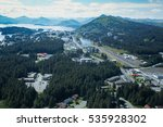 Small photo of aerial view of the town of Kodiak Alaska