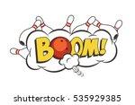 vector cartoon bowling strike... | Shutterstock .eps vector #535929385