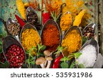 Various Colorful Spices Of The...